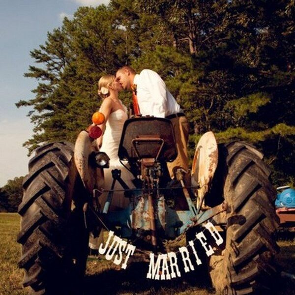 Married couple on an ATV kissing